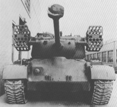 M26 with T99 Rocket Projector, front view.jpg