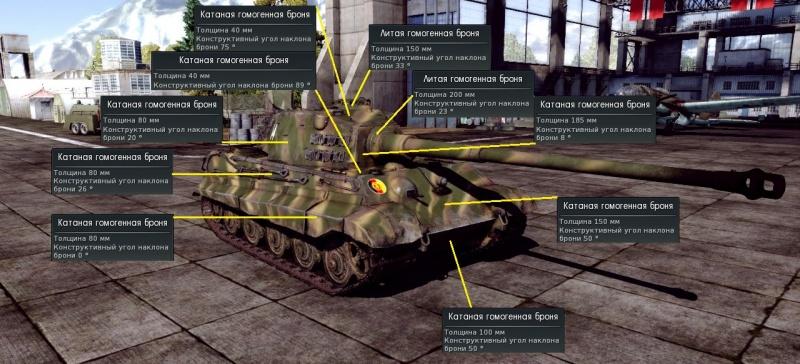 Схема бронирования Тигр 2 с 10