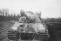 Jagdtiger of Schwere Panzerjager Abteilung 653 Steinweiler Pfalz 1945. Tank destroyer being transported on rail car..jpg